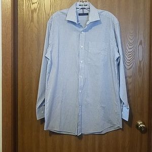 Tommy Hilfiger Button-Down Blue Pinstripe Shirt